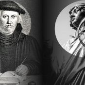 Images of theologian Justus Jonas and scientist Nicolaus Copernicus