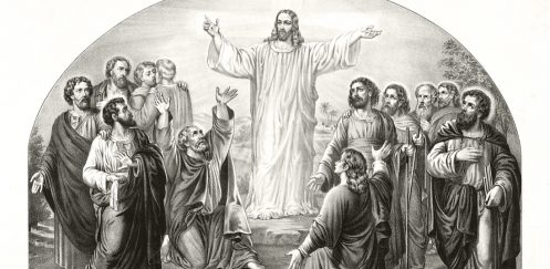 Drawing of Jesus appearing to disciples