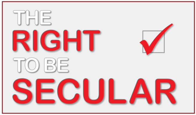 The RIGHT to be SECULAR: ENDORSED logo