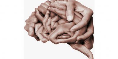 Brain formed of hands