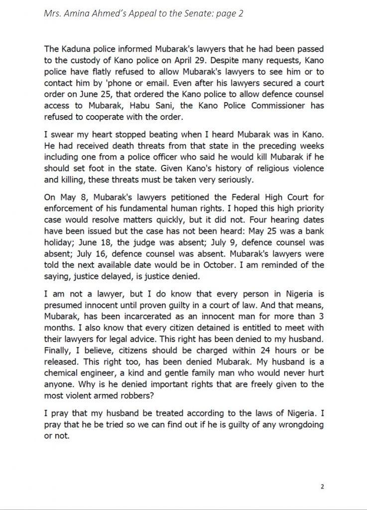 Mubarak Senate Appeal p2