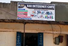 AAI DRC Internet Cafe sign