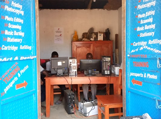 Working in the AAI Internet Cafe