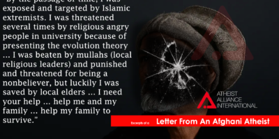Letter from an Afghan atheist
