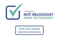 Census 21 in Australia: Mark 'no religion'.